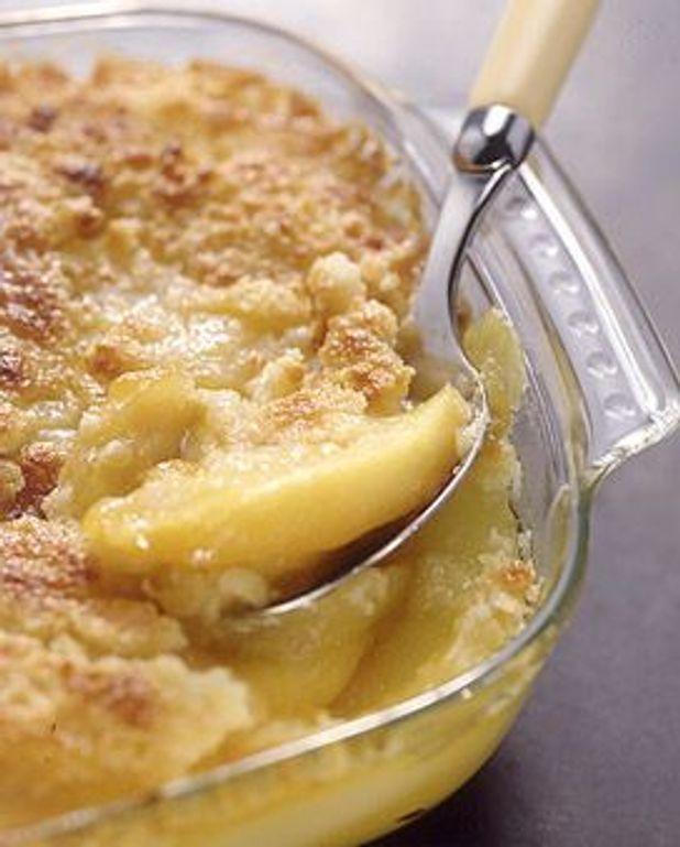 Crumble de pommes et poires au calvados