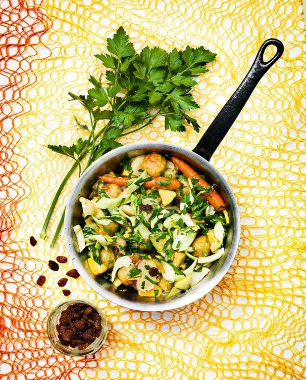 Curry de légumes et de pâtissons