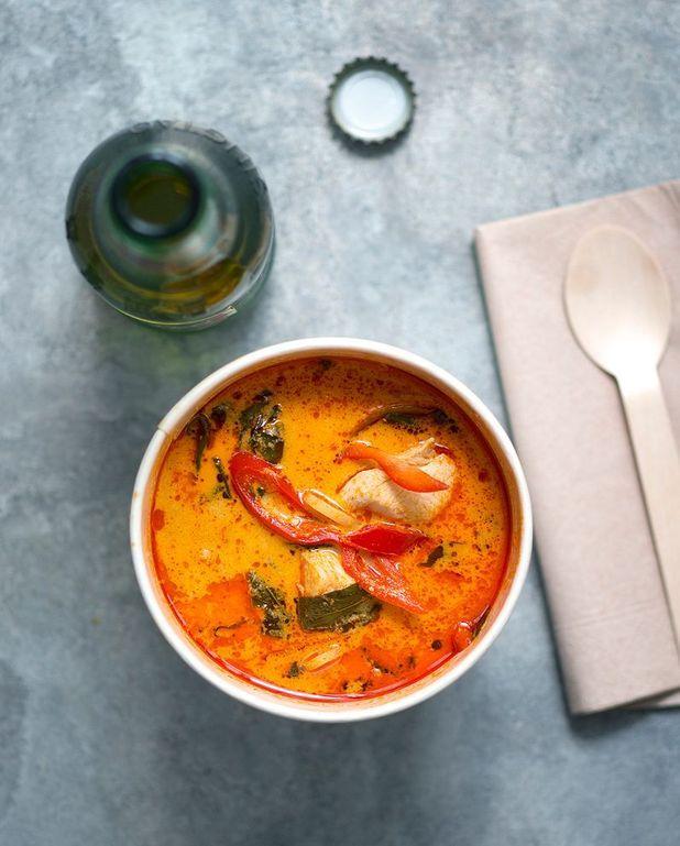 Curry de poulet aux pousses de bambou