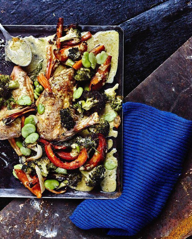 Curry de volaille, légumes rôtis