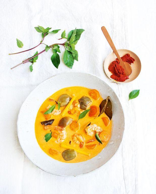 Curry rouge de crevettes