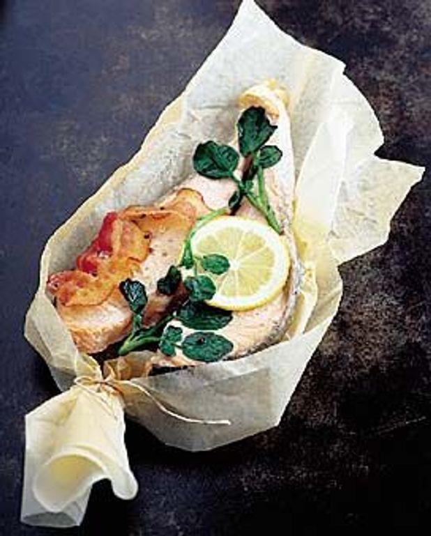 Darnes de saumon au cresson