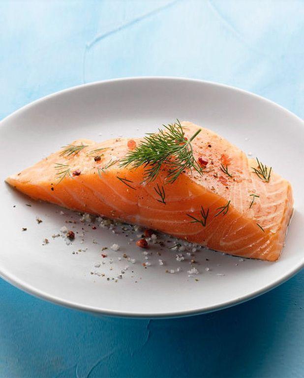 Dés de saumon aux poireaux