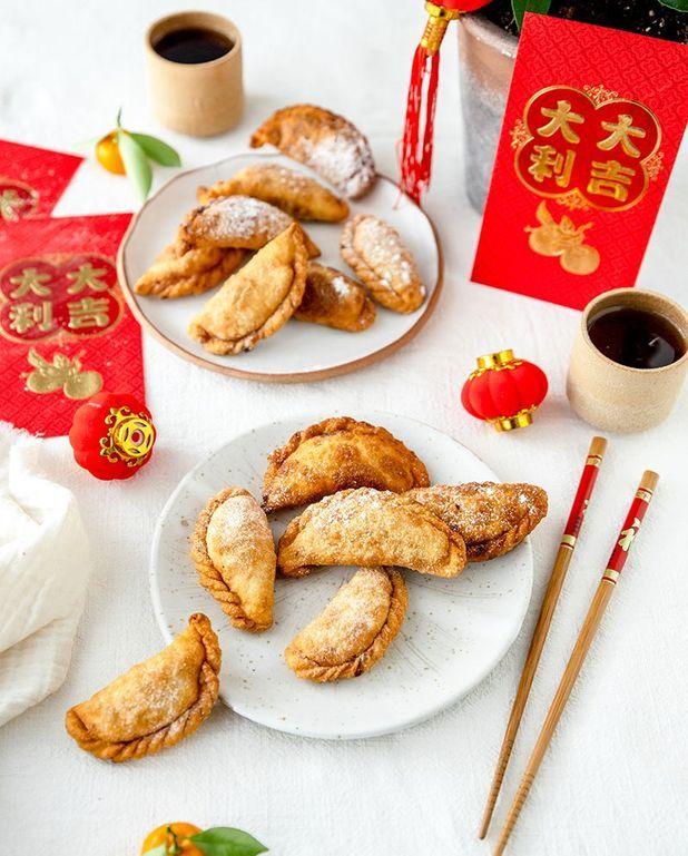 Dumplings frits à la cacahuète (Yau Gok)