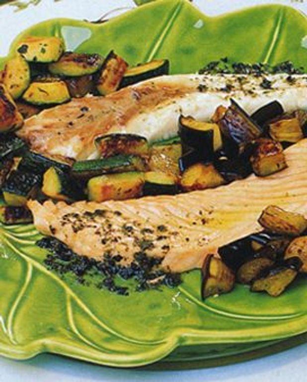 Duo de poissons aux petits légumes