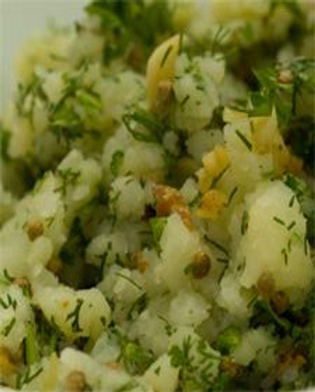 Écrasade de pommes de terre aux herbes