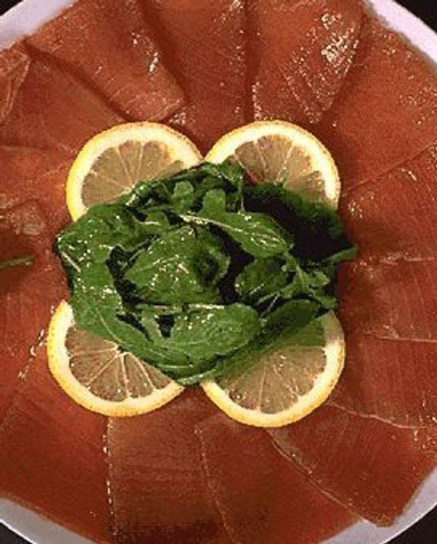 Emincé de thon au basilic
