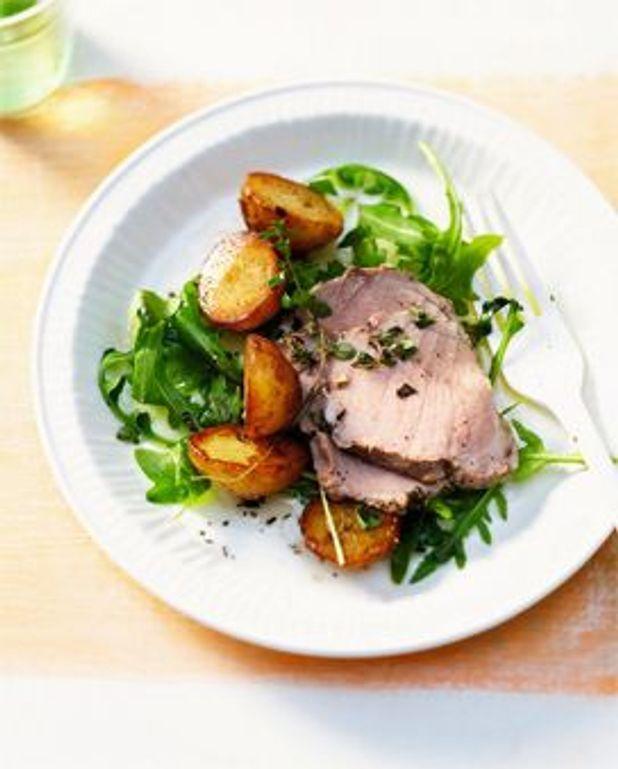 Enchaud de porc, salade de pommes de terre