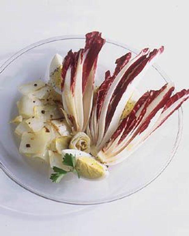 Endives cuites et crues à l'aceto balsamico