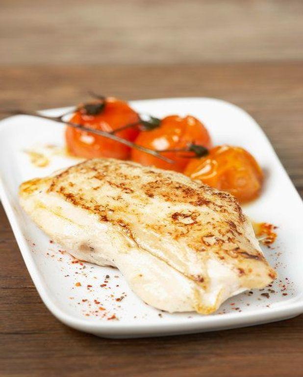 Escalopes de poulet aux carottes et aux nectarines