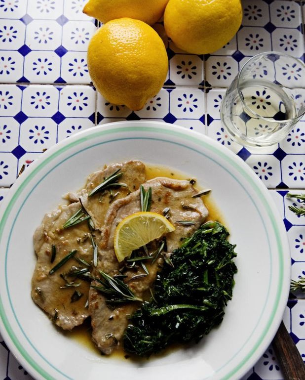 Escalopes de veau, citron-romarin