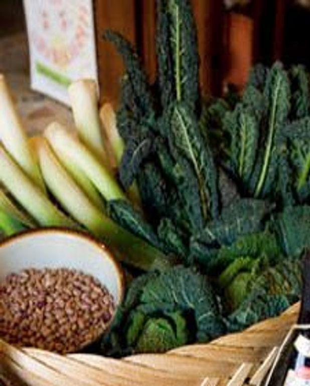 Farro aux légumes et au fromage de chèvre