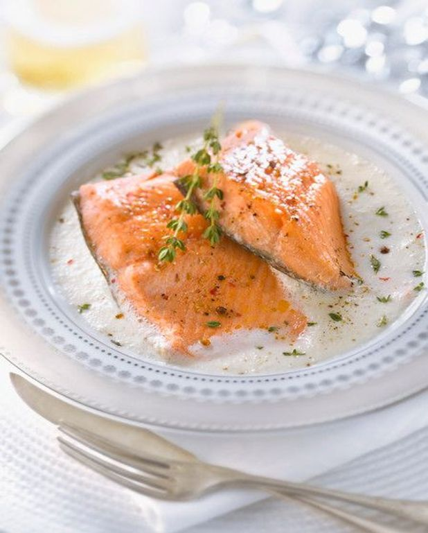 Feuilleté de saumon écossais à la crème de cumin