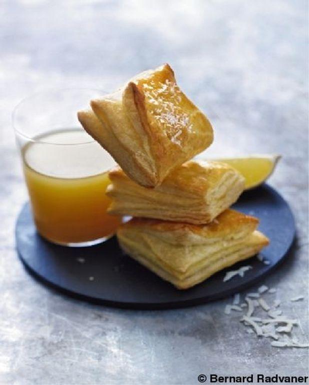 Feuilletés à la crème de coco-mangue