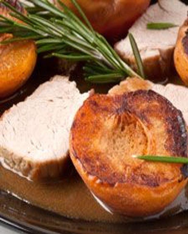 Filet de porc aux abricots et romarin