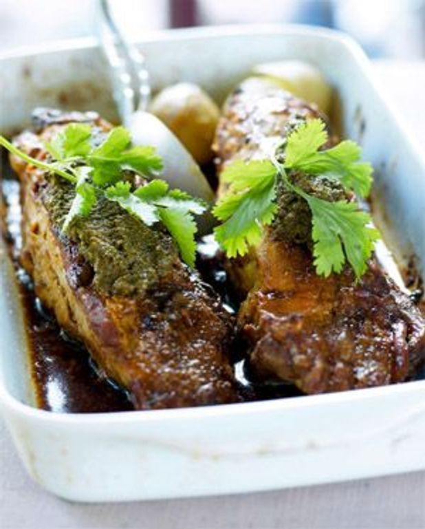 Filet mignon de porc à la tapenade et pommes de terre vapeur
