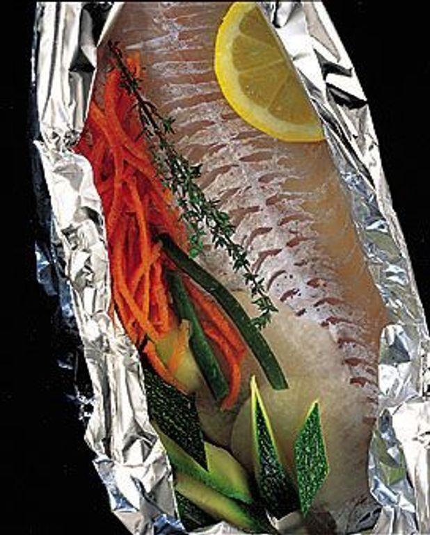 Filets de merlan aux légumes