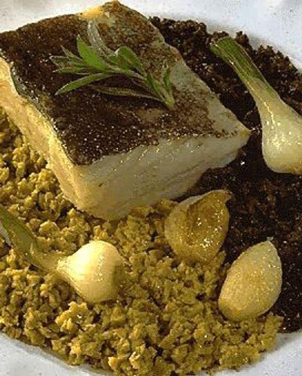Filets de morue aux deux olives