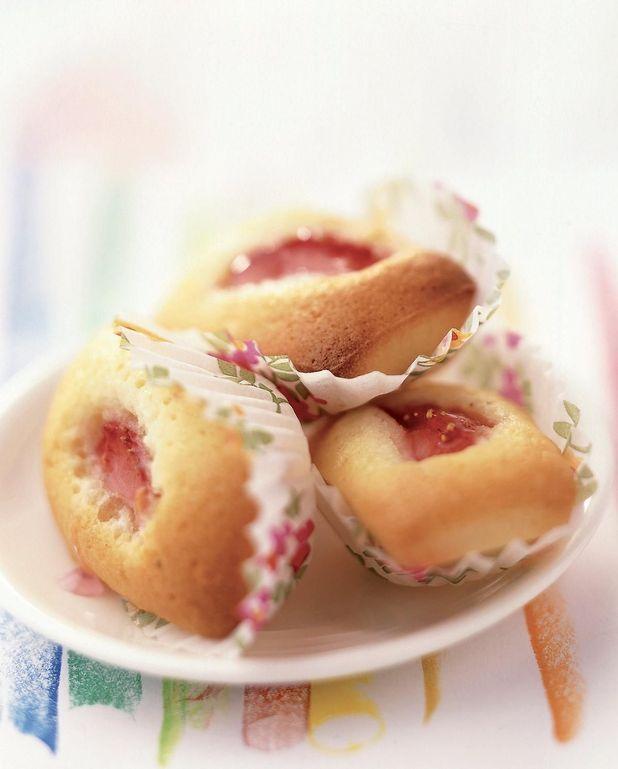 Financiers aux amandes et aux fraises