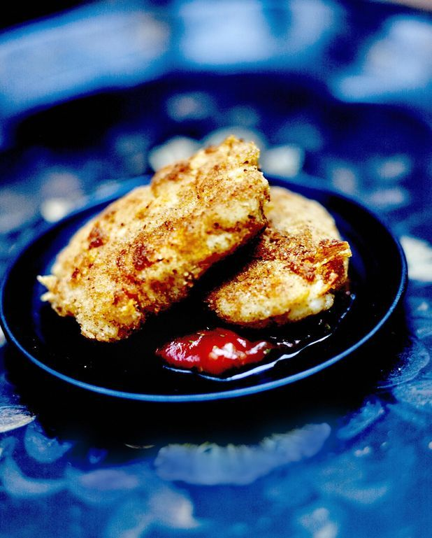 Fish nuggets sauce barbecue