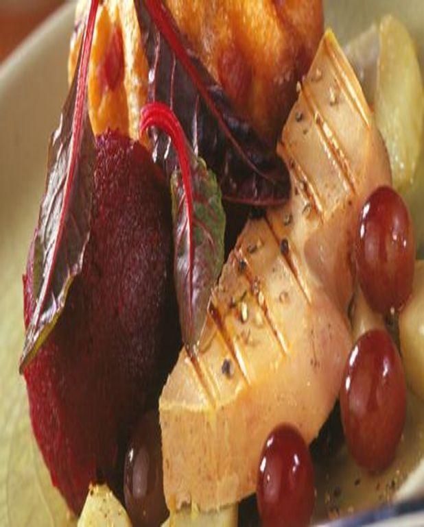 Foie Gras chaud de Noël sur topinambours