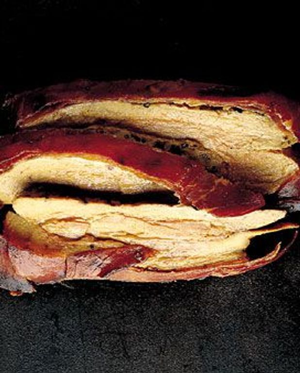Foie gras de canard chaud à la sauce-aigre douce