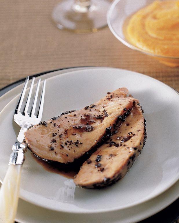Foie gras rôti à la cardamome et au café