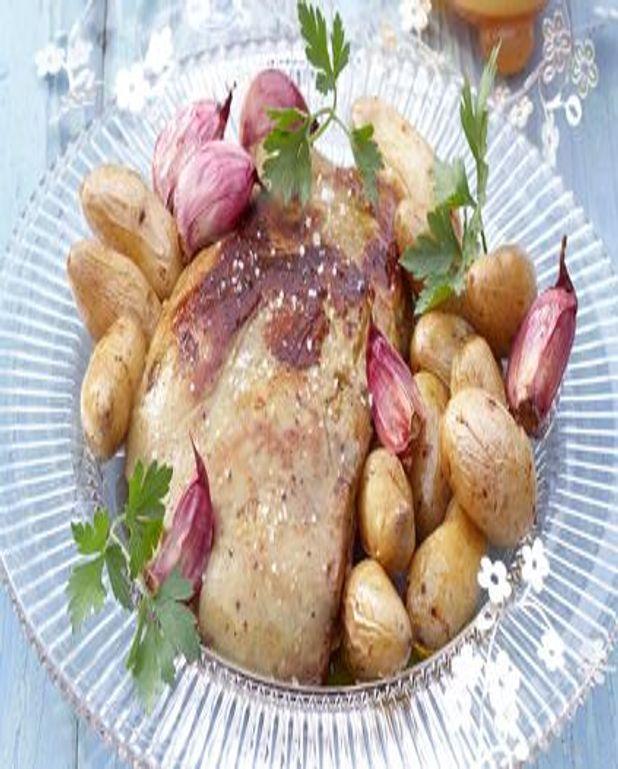 Foie gras rôti aux pommes de terre
