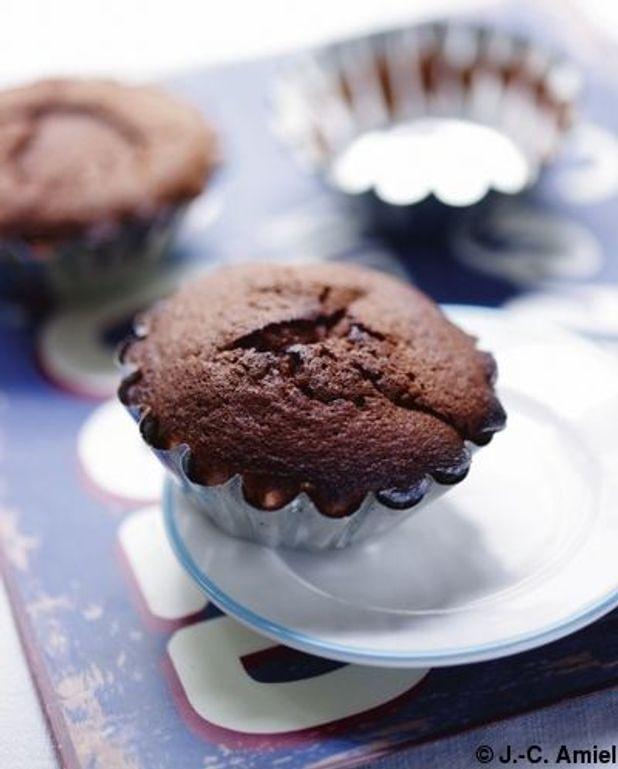 Fondants au chocolat noir à l'huile essentielle de menthe