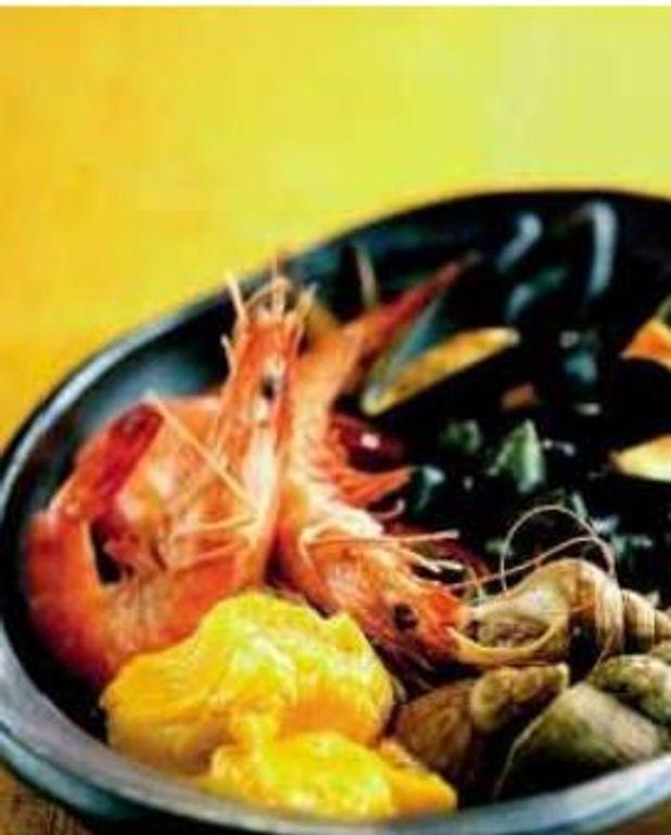 Fruits de mer en aïoli safrané