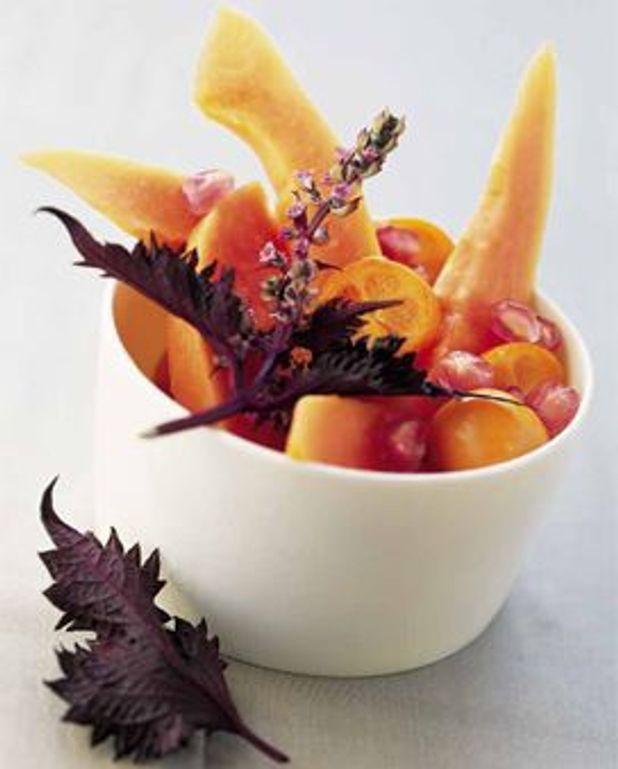 Fruits exotiques, épices et shiso