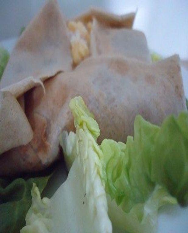 Galette de sarrasin aux oeufs brouillés et jambon