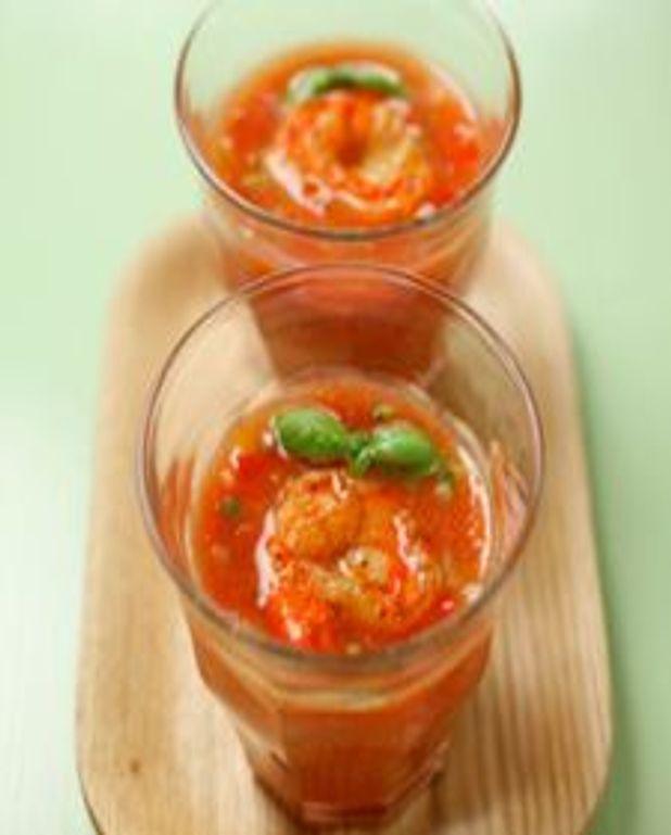 Gaspacho aux crevettes de Matane