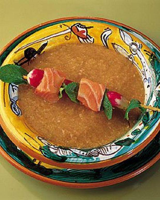 Gaspacho de saumon