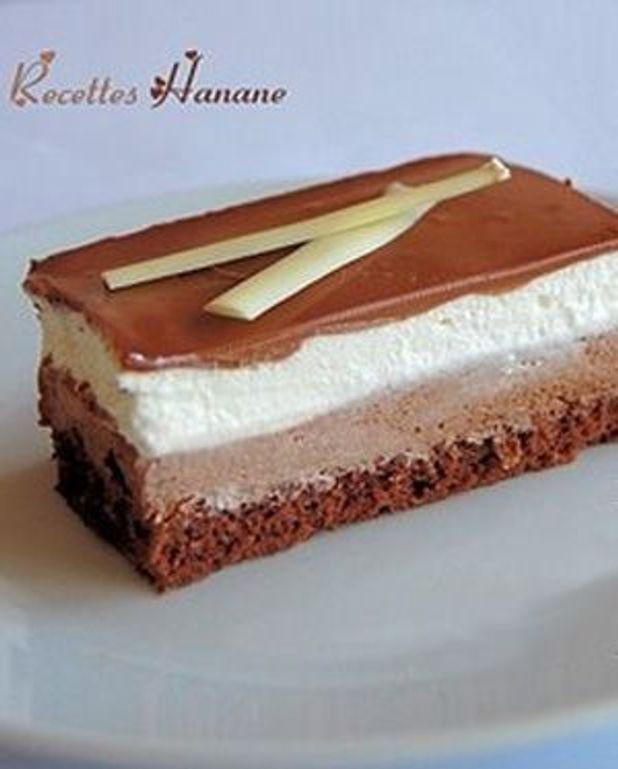 Gâteau 3 chocolats