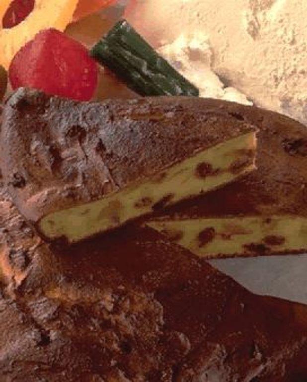 Gâteau à la ricotta et aux fruits confits