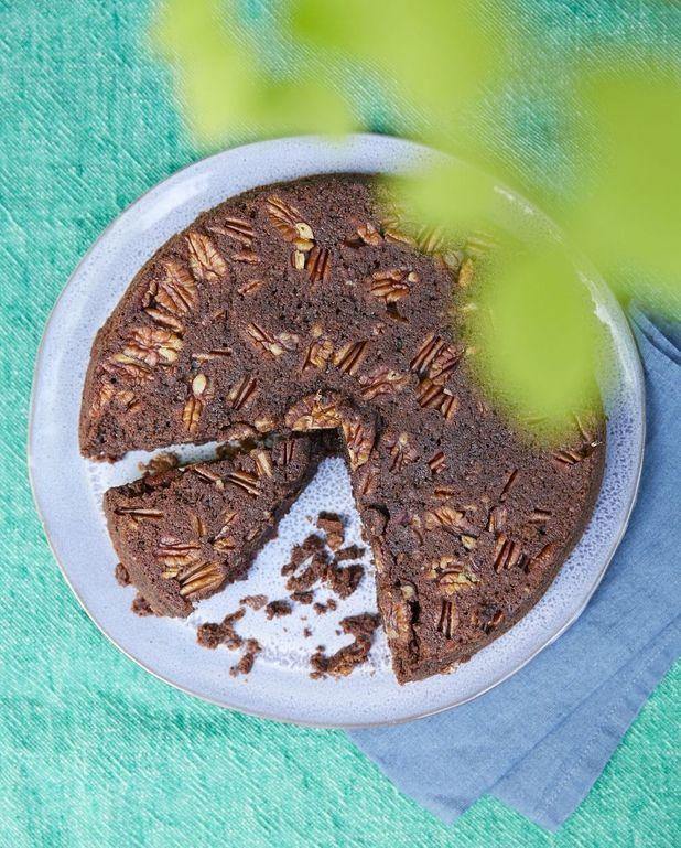 Gâteau au chocolat et noix de pécan