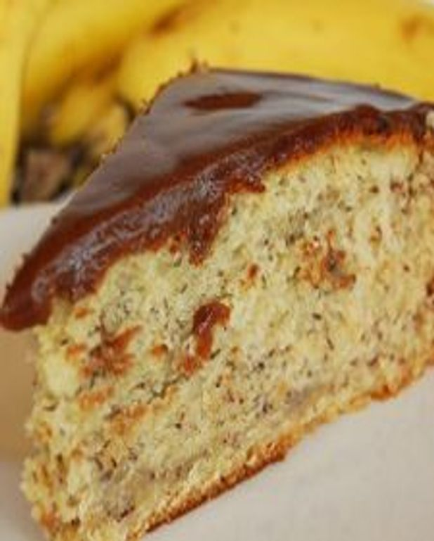 Gâteau aux bananes, glaçage aux barres mars
