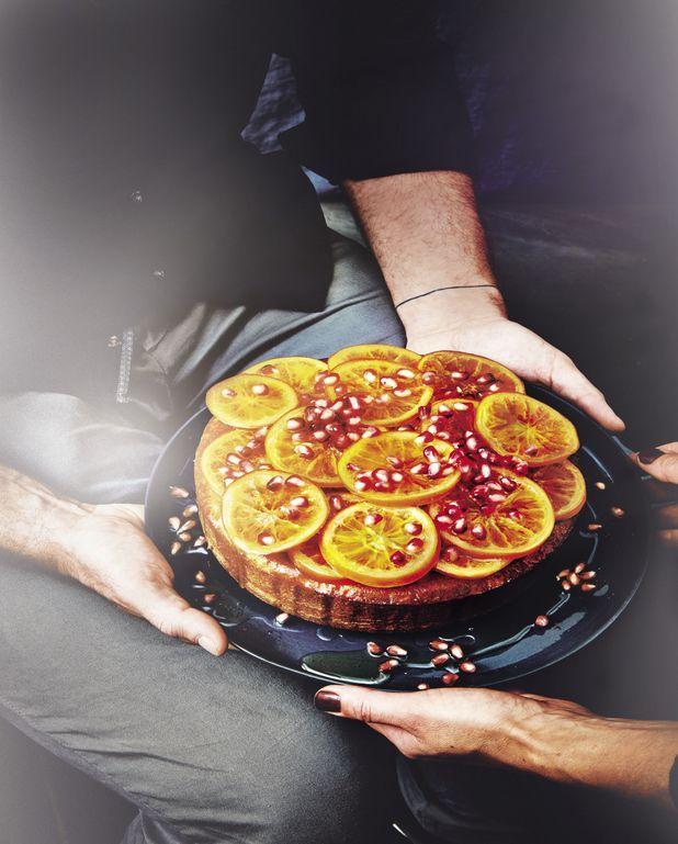 Gâteau aux oranges et à la grenade
