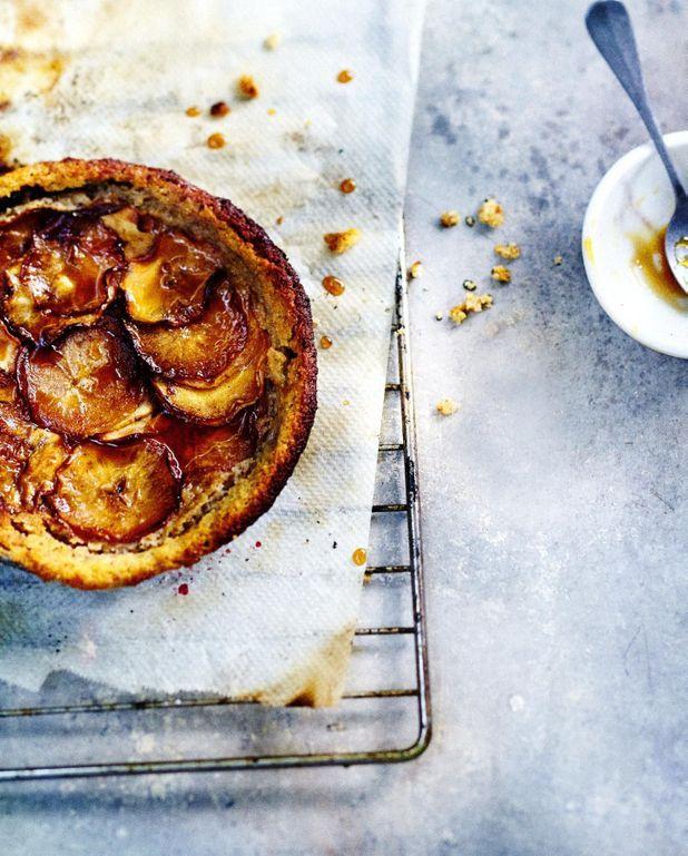 Gâteau aux pommes, ricotta et amandes