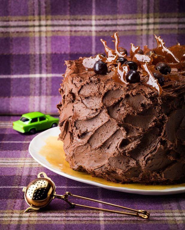 Gâteau choco-mousse aux deux chocolats