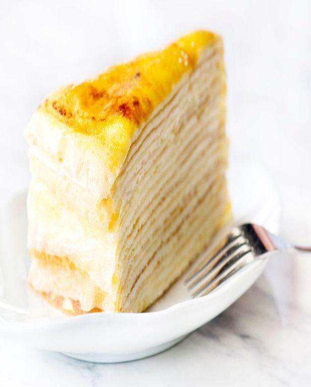 Gâteau crêpé fourré à la frangipane