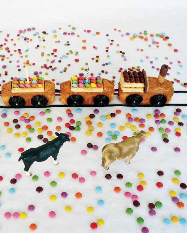 Gâteau d'anniversaire train