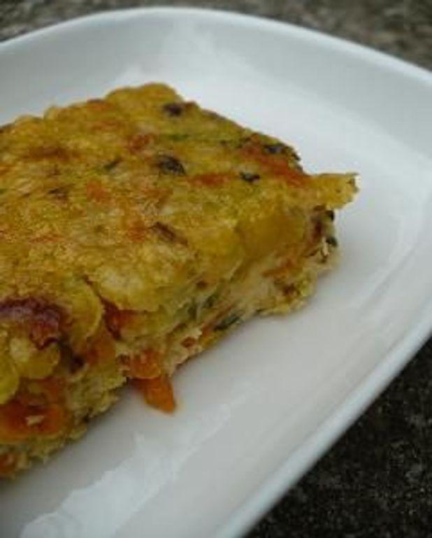 Gâteau de légumes au manchego