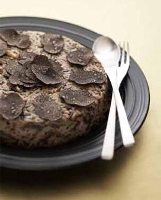 Gâteau de riz à la truffe