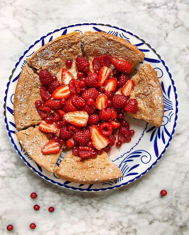 Gâteau financier aux fruits rouges