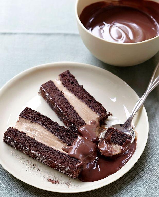 Gâteau fourré à la crème glacée