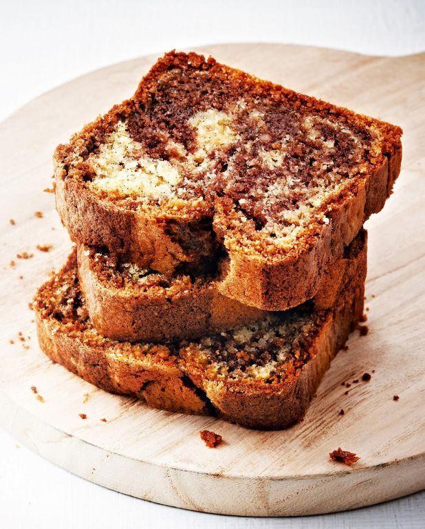 Gâteau marbré au chocolat et à l'amande sans sucre de Philippe Conticini