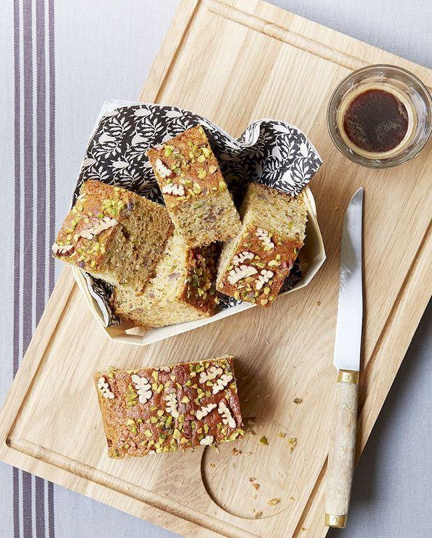 Gâteau noix de pécan et pistaches
