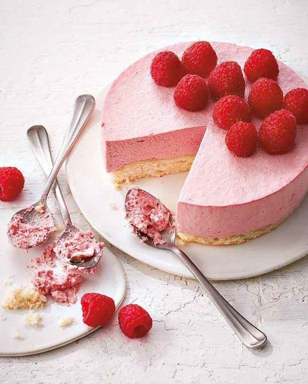Gâteau nuage amande et framboise
